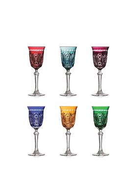 Bohemia Crystal Broušené sklenice na likér 10089/H/57200/090ml (set  po 6 ks)