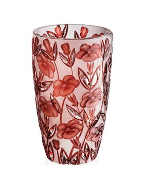 Bohemia Crystal Broušená váza 80756/GR/máky/305mm
