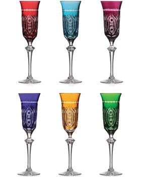 Bohemia Crystal Broušené sklenice na šampaňské 10089/H/57200/180ml (set po 6ks)