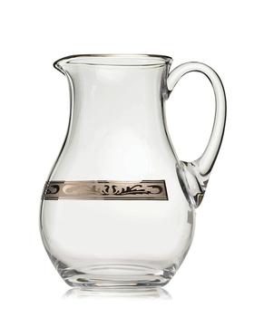 Bohemia Crystal Džbán na vodu a pivo s platinovým dekorem 10468K/378500/1500ml