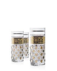 Tumbler 350ml decor stone/gold (set of 6 pcs)