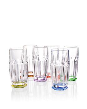 Bohemia Crystal Barevné sklenice na nealko Safari 7K8/99999/9/72T02/242/300ml (set po 6ks)