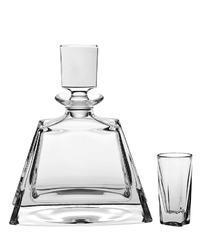 Bohemia Crystal likér set Kathrene (1 krafa + 6 sklenic)