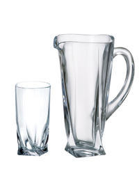 Bohemia Crystal soft set Quadro (1 jug + 6 glasses for soft drinks).