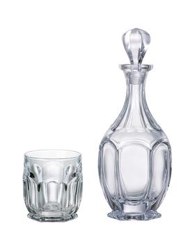 Bohemia Crystal Whisky set Safari  99999/9/99R83/981 (set 1 karafa + 6 pohárov)