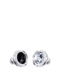 Bohemia Crystal Set of glass stoppers with Czech crystal Preciosa - black and white 1470 20.