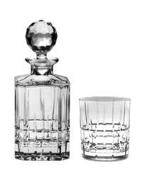 Bohemia Crystal Whisky set Dover 99999/15720/861  (set 1 karafa + 6 sklenic)