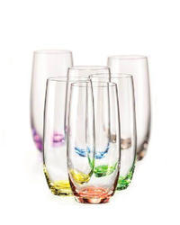 Rainbow tumblers 25180/D4662/350ml (set of 6pcs)