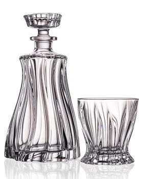 Bohemia Crystal Whisky set Plantica (1 karafa + 2 sklenice)
