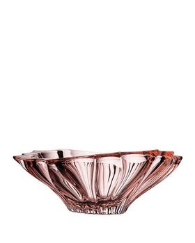 Bohemia Crystal Mísa na ovoce Plantica 6KG02/0/72T31/330mm - růžová