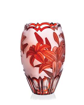 Bohemia Crystal Broušená váza 80711/GR/lilie/300mm