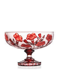 Footed Bowl 63040/GR/poppies/305mm