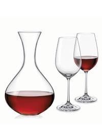 Bohemia Crystal Set na víno Viola (set 1 karafa +2 sklenice)