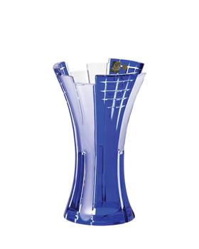Bohemia Crystal Broušená váza Metropolis 80029/0/78D97/230mm - modrá