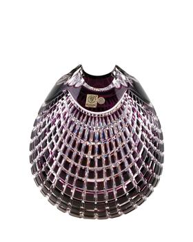 Bohemia Crystal  Broušená váza Quadrus 80C57/0/78C85/210mm -fialová
