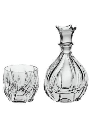 Bohemia Crystal whisky set Bromelias (1 carafe + 6 tumblers)