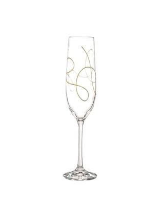 Bohemia Crystal Champagnergläser String 190ml - golden (Set mit 2 Stück)