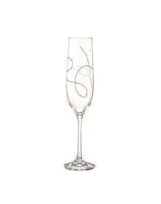 Bohemia Crystal String Champagne Glasses 190ml (set of 2 pcs)
