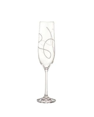 Bohemia Crystal String Champagne Glasses 190ml (set of 2 pcs)
