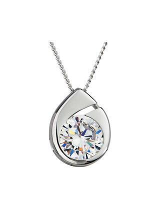 Bohemia Crystal Wispy Silver Pendant with Preciosa Cubic Zirconia 5105 00
