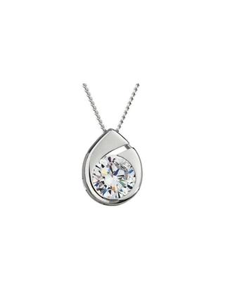 Bohemia Crystal Wispy Silver Pendant with Preciosa Cubic Zirconia 5105 00 - 1