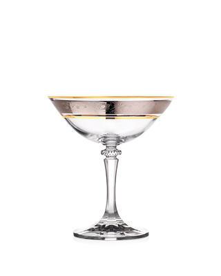 Bohemia Crystal Poháre na šampanské Kleopatra 1SC33/43249/180ml  (set po 6 ks) - 1