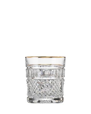 Bohemia Crystal Ručně broušené sklenice na whisky Felicie Line Gold 300ml (set po 2ks)