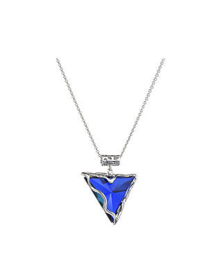 Bohemia Crystal Silver Pendant Bolzano-Pend with Preciosa Cubic Zirconia - heliotr 6624 43 - 1