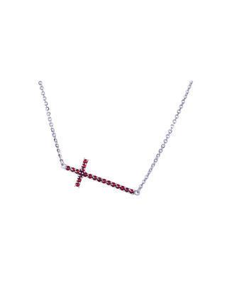 54/5000 Bohemia Crystal Silberne Halskette mit böhmischem Granat - 1