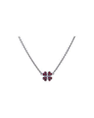 Strieborný náhrdelník s českým granátom - 1