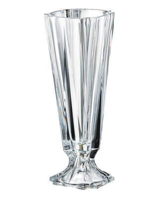 Bohemia Crystal váza na nôžke Metropolitan 435mm
