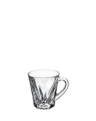 Bohemia Crystal Origami glass with handle 120ml