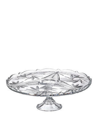 Bohemia Crystal Teller mit Bein Nova Pinwheel 310 mm