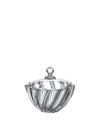 Bohemia Crystal Scallop box with lid 190mm