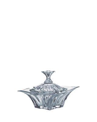 Bohemia Crystal Dóza s víčkem Florale 205mm