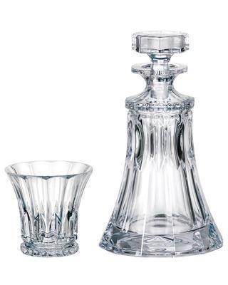 Bohemia Crystal whisky set Wellington (set 1 carafe, + 2 glasses)
