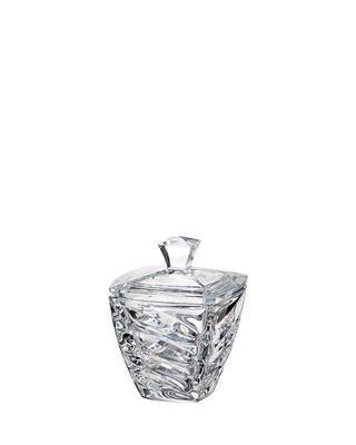Bohemia Crystal dóza s viečkom Facet 140mm