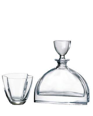 Bohemia Crystal Whisky- und Cognacset Nemo (1 Karaffe + 6 Gläser)