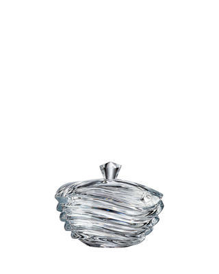 Bohemia Crystal Wave box with lid 170mm