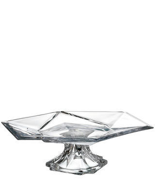 Bohemia Crystal Origami footed plate 365mm