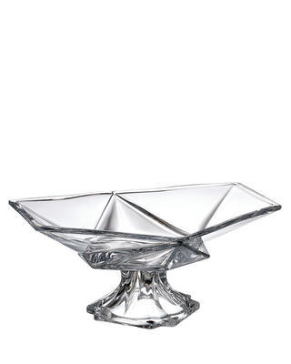 Bohemia Crystal footed bowl Origami 355mm