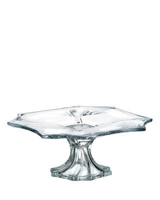 Bohemia Crystal footed plate Neptune 330mm