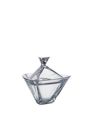 Bohemia Crystal Dose mit Deckel Triangle 180 mm