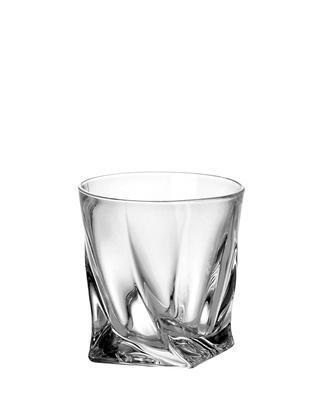 Bohemia Crystal Quadro Whiskey Tumblers 340ml (set of 6 pcs) - 1