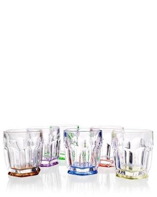 Bohemia Crystal Safari Colorful Whiskey Tumblers 250ml (set of 6 pcs)