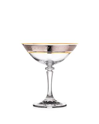 Bohemia Crystal Sklenice na šampaňské Kleopatra 180ml  (set po 5ks) SLEVA-neúplný set - 1