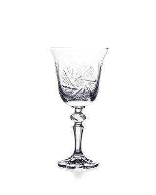 Bohemia Crystal Broušené sklenice na víno Laura 220ml (set po 5ks) SLEVA NEÚPLNÝ SET