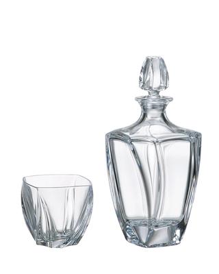 Bohemia Crystal Whisky set Neptune (1 karafa + 5 sklenic) SLEVA-neúplný set