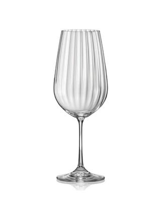 Bohemia Crystal Sklenice na červené víno Waterfall 550ml (set po 5ks) SLEVA-neúplný set