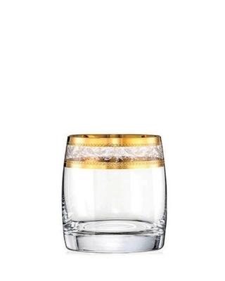 Bohemia Crystal Sklenice na whisky Ideal se zlatým dekorem 290ml (set po 6ks)